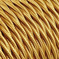 Cavo treccia tessile Merlotti 0,75 mm oro, matassa 50 m