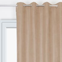 Tenda Velours Oscurante termica occhielli marrone 135 x 280 cm