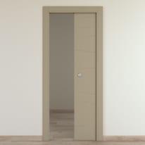 Porta da interno scorrevole Wind taupe tortora 70 x H 210 cm reversibile