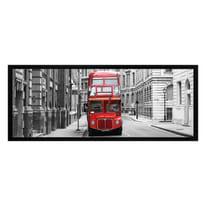 Stampa incorniciata Bus rosso 20 x 50 cm