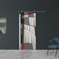 Porta da interno scorrevole Carpet 6/binario Ermes 88 x H 215 cm dx