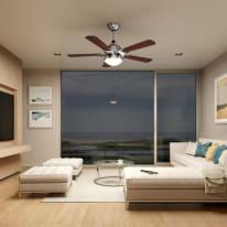 Ventilatore da soffitto con luce led integrato Hazel