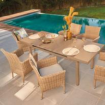 Set tavolo e sedie Costarica naturale