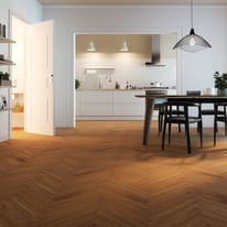 Parquet supportato prefinito rovere Basic bianco spina italiana