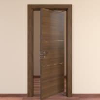 Porta da interno rototraslante Tussauds Cacao 70 x H 210 cm dx