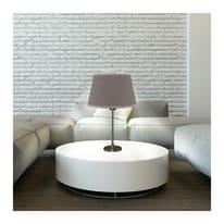 Paralume per lampada da tavolo personalizzabile  Ø 40 cm tortora in teletta Inspire