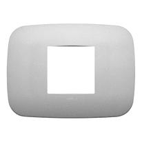 Placca VIMAR Arké 2 moduli argento matt