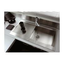 Lavello da incasso Mondrian 100 x 53 cm 1 vasca con gocciolatoio