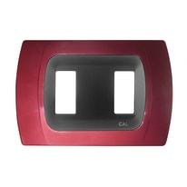 Placca CAL Click-Laser 2 moduli amaranto