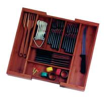 Porta posate in legno marrone 33.0 x 6.5 x 46.0 cm