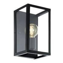 Applique Charterhouse nero, in acciaio inossidabile, 16x15 cm, E27 MAX60W IP20 EGLO