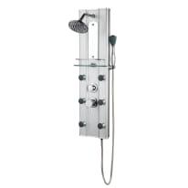 Colonna doccia idromassaggio Dony con miscelatore meccanico argento 6 getti