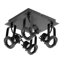 Plafoniera Technic nero, in ferro, GU10 4x42W IP20 INSPIRE
