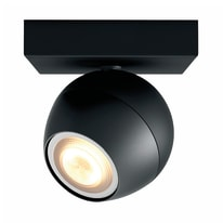 Faretto completo Buckram nero, in metallo, GU10 10W IP20 PHILIPS HUE