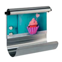 Porta rotolo carta assorbente adesivo Cupcake in vetro temprato