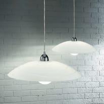 Lampadario Kent bianco, in metallo, diam. 50 cm, E27 MAX75W IP20