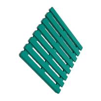 Pedana per doccia in plastica verde 58 x 58 cm