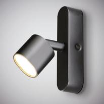Faretto completo Flut nero, in ferro, LED integrato 5W 220LM IP20 INSPIRE