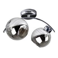 Applique Mirror grigio, in vetro, E14 2xMAX42W IP20