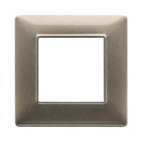 Placca VIMAR Plana 2 moduli bronzo metallizzato
