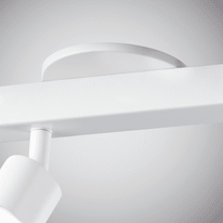 Faretto completo Flut bianco, in ferro, LED integrato 14W 1300LM IP20 INSPIRE