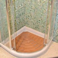 Box doccia quadrato scorrevole dado 70 x 185 cm h 185 cm for Compensato marino leroy merlin