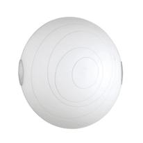 Plafoniera Kent bianco, in vetro, diam. 30 cm, E27 MAX60W IP20