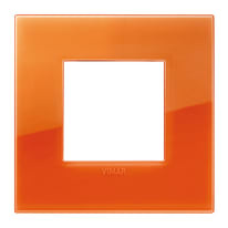 Placca VIMAR Arké 2 moduli reflex orange