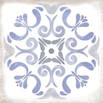 Piastrella Patine L 15 x H 15 cm blu, bianco, azzurro