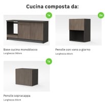 Cucina in kit one olmo L 180 cm
