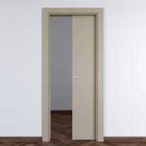 Porta scorrevole a scomparsa Cinder grigio L 80 x H 210 cm reversibile