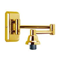 Faretto a muro Braccio Camelia oro, in alluminio, E14 IP20