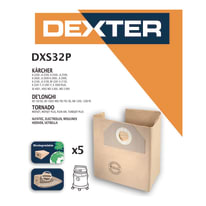 Sacchetto di aspirazione DEXTER DXS 32P carta 20 L 5 pezzi