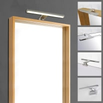 Applique Slim con kit multi attacco cromo, in alluminio, 30x8.2 cm, LED incassato 5W IP44 INSPIRE