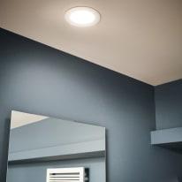 Faretto fisso da incasso tondo Ex.bath in alluminio, bianco, diam. 12 cm LED integrato 67LM IP44 INSPIRE