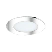 Faretto fisso da incasso tondo Ex.bath in alluminio, nichel, diam. 12 cm LED integrato 900LM IP44 INSPIRE