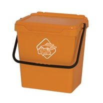 Pattumiera manuale giallo 30 L