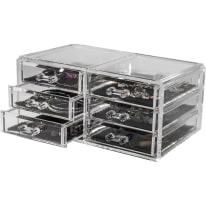 Porta gioielli COMPACTOR 6 cassetti trasparente