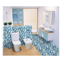 Mosaico Classic H 32.7 x L 32.7 cm bianco, azzurro