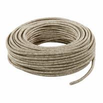 Cavo tessile MERLOTTI 3 fili x 0,75 mm² beige 10 metri