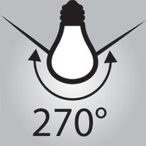 Lampadina LED E14 bulbo bianco tenue 9.5W = 1055LM (equiv 75W) 300° LEXMAN