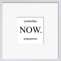 Stampa incorniciata Yesterday Now Tomorrow 30x30 cm