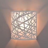 Applique Liverpool glitter bianco in metallo, E14 MAX40W IP20 INSPIRE