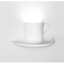 Applique Tazzina bianco, in gesso, 15x28 cm, G9 MAX60W IP20 SFORZIN