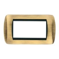 Placca CAL 4 moduli bronzo compatibile con living international