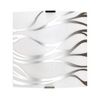 Applique Sonny bianco/cromo, in vetro, 24x24 cm, E27 MAX42W IP20