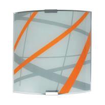 Applique Trust arancione, bianco, grigio e alluminio, in vetro, 20x20 cm, E27 MAX60W IP20 LUMICOM