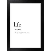Stampa incorniciata Life 13x18 cm