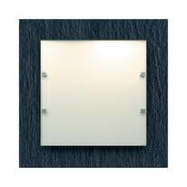 Plafoniera Ardesia bianco, in vetro, 40x40 cm, E27 2xMAX60W IP20 LUMICOM