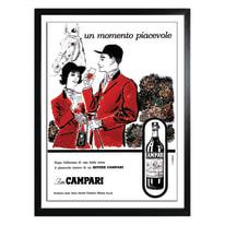 Stampa incorniciata Campari 30x40 cm